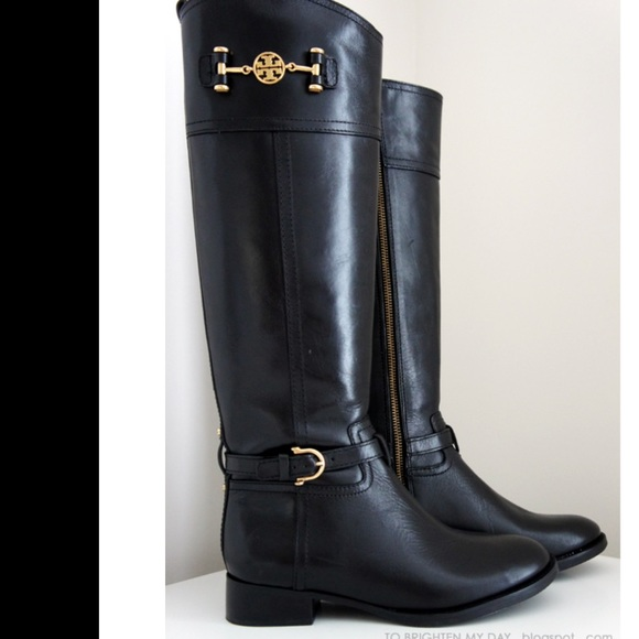 3cf6a106f Tory Burch Nadine Black Leather Boots